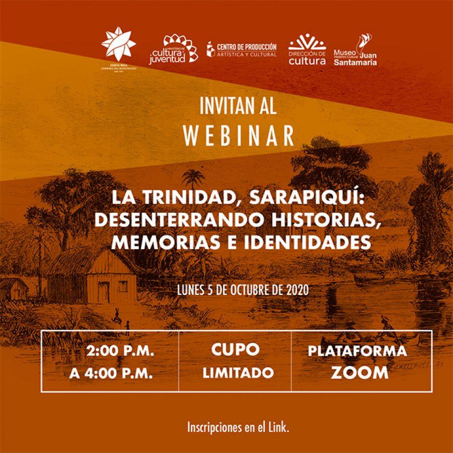 La Trinidad, Sarapiquí: Desenterrando historias, memorias e identidades. Webinar