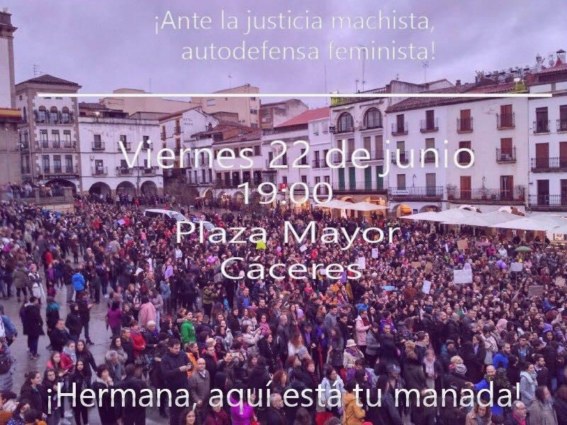 Concentración contra la liberación de La Manada