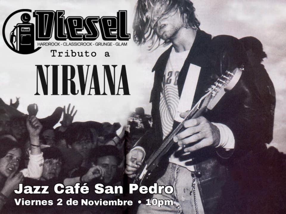 Tributo a Nirvana. Diesel. Banda, covers, grunge