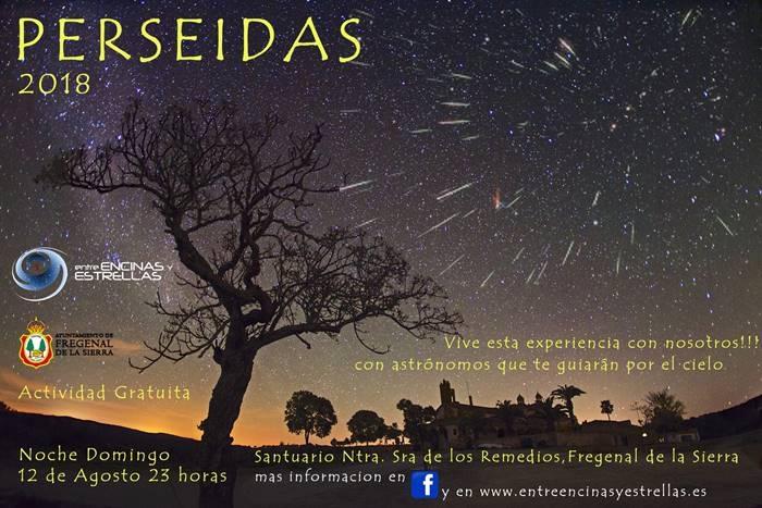 Perseidas 2018 || Observación de lluvia de estrellas en Fregenal de la Sierra