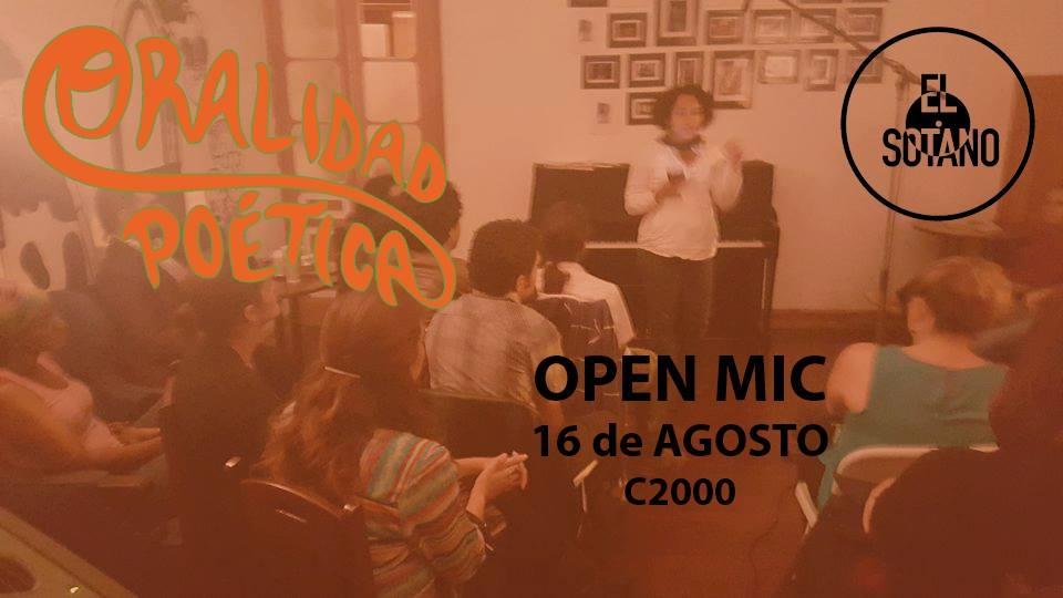 Oralidad Poética Open Mic