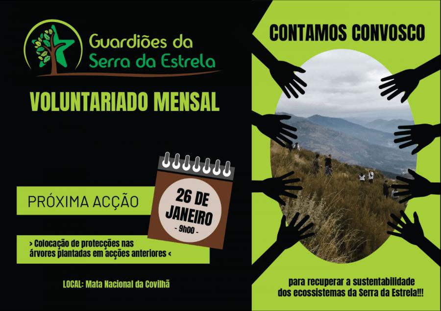 Voluntariado mensal pela Serra da Estrela - Janeiro 2020
