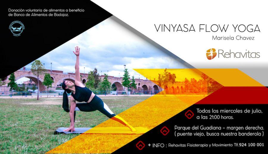 Clases de Yoga gratuitas para ayudar a la Fundación Banco de Alimentos Badajoz   LOS MIÉRCOLES DE JULIO