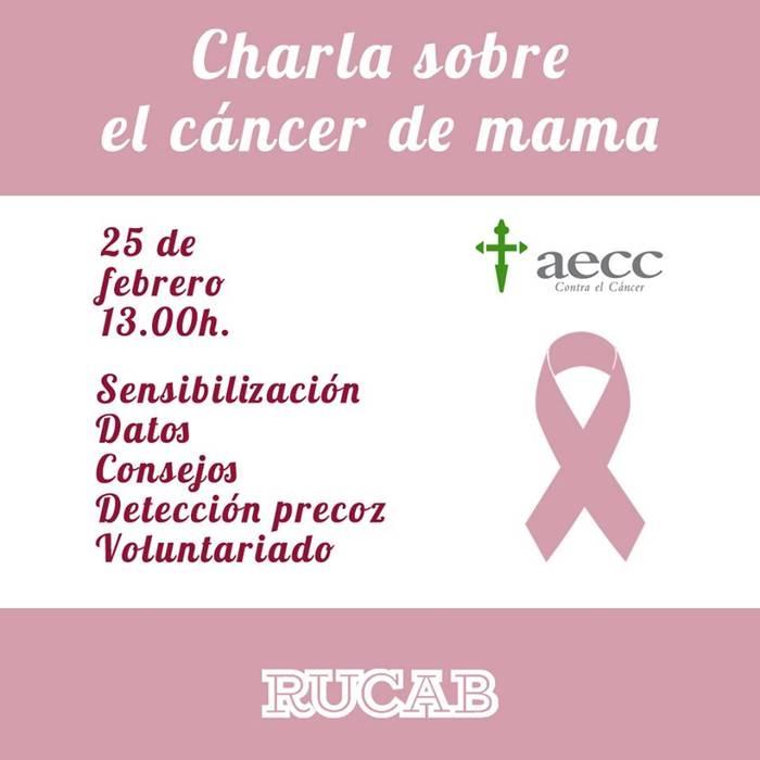 Charla sobre el cáncer de mama   RUCAB
