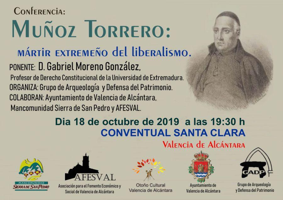 """Conferencia """"Muñoz Torrero: mártir extremeño del liberalismo"""""""