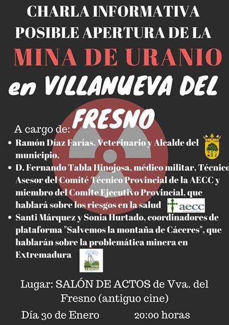 Charla informativa en Villanueva del Fresno