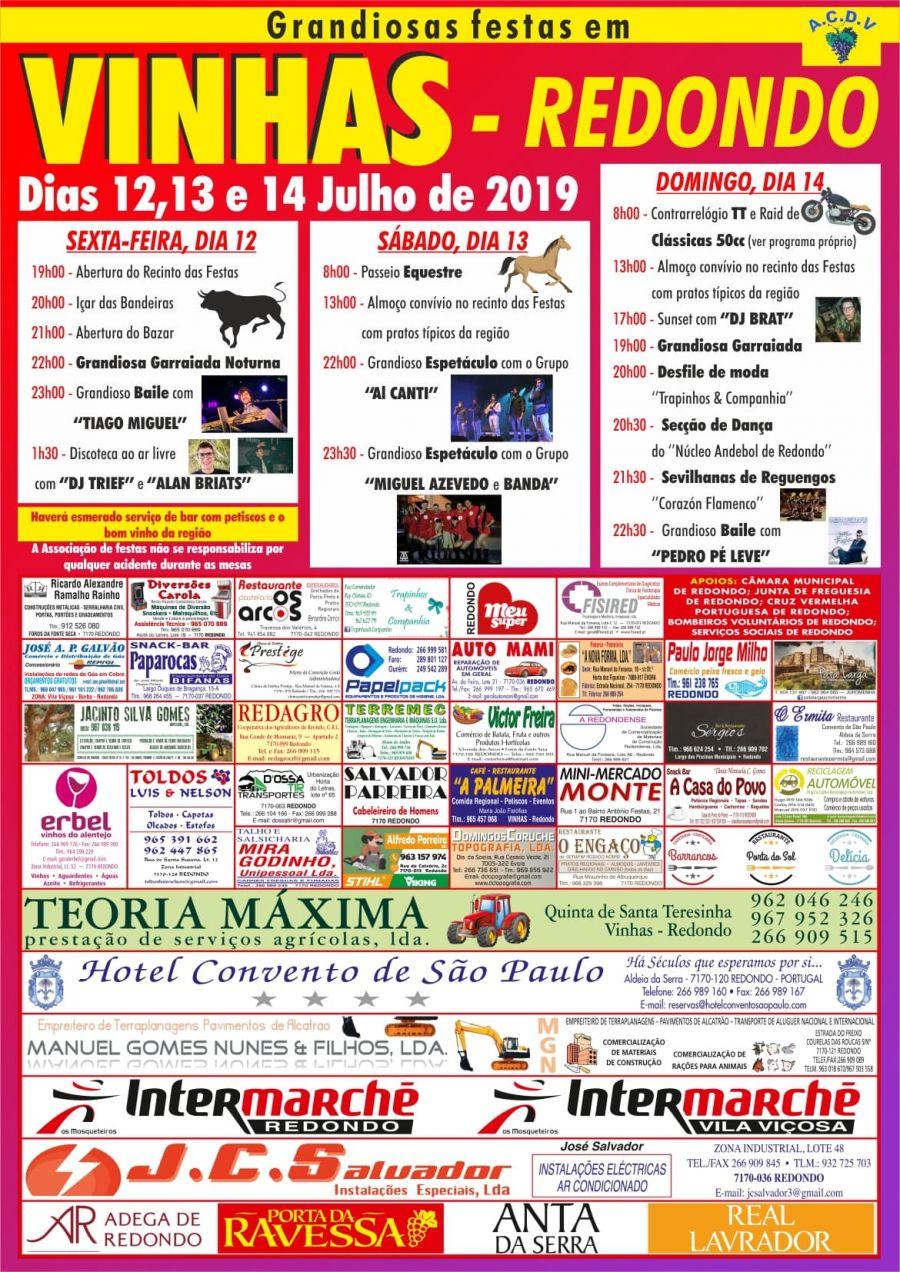 Grandiosa Festas em VINHAS- REDONDO