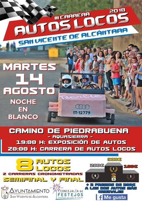 III CARRERA AUTOS LOCOS || San Vicente de Alcántara