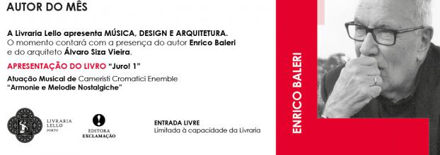 """Enrico Baleri apresenta o seu livro """"Juro! 1"""" em diálogo com Álvaro Siza Vieira"""