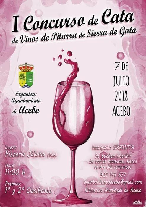 I Concurso de cata de vinos de pitarra de Sierra de Gata