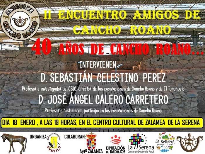 II Encuentro Amigos de Cancho Roano. 40 años de Cancho Roano