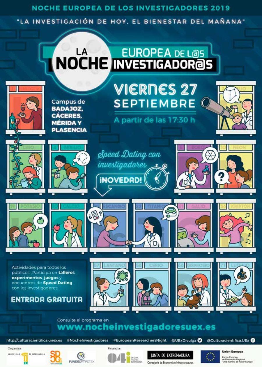 Noche Europea de los Investigadores 2019 en Cáceres