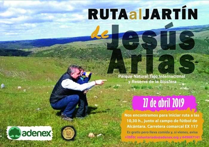 Ruta al jartín de Jesús Arias