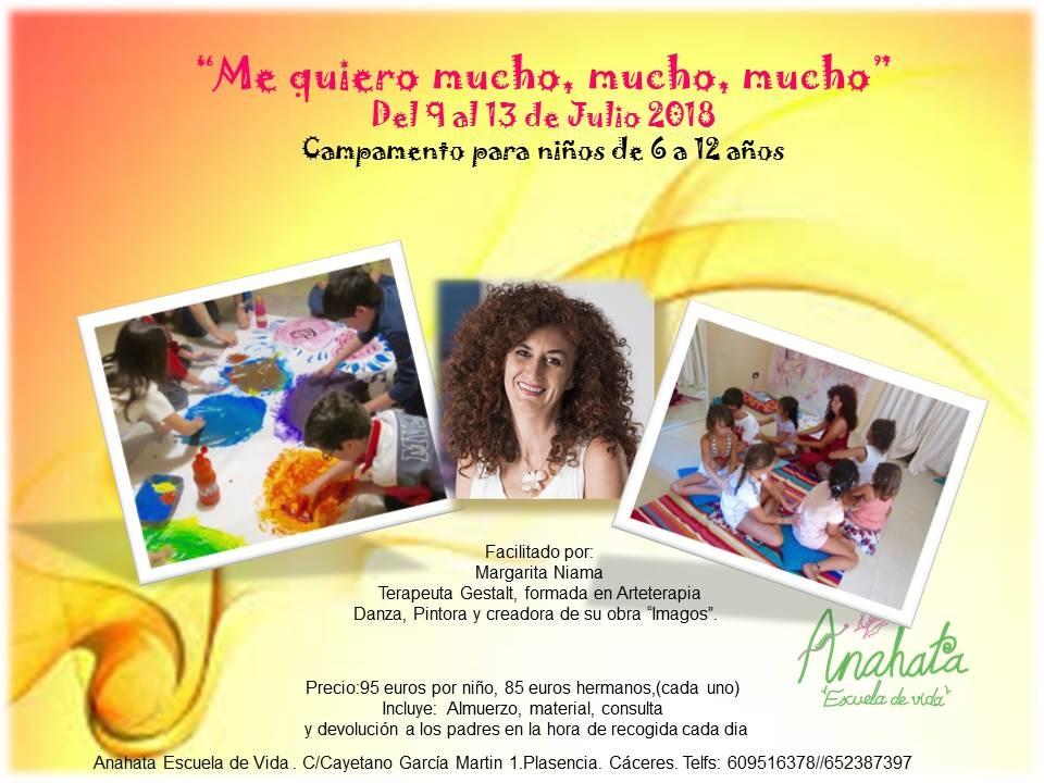 Campamento infantil «Me quiero mucho, mucho, mucho»