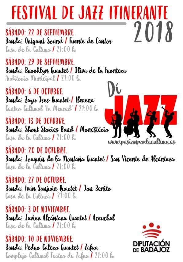 DíJAZZ // Festival Itinerante de Jazz de la provincia de Badajoz