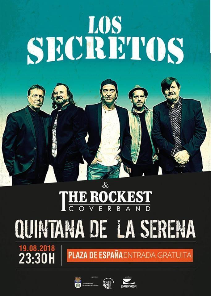 Concierto de LOS SECRETOS || Quintana de la Serena