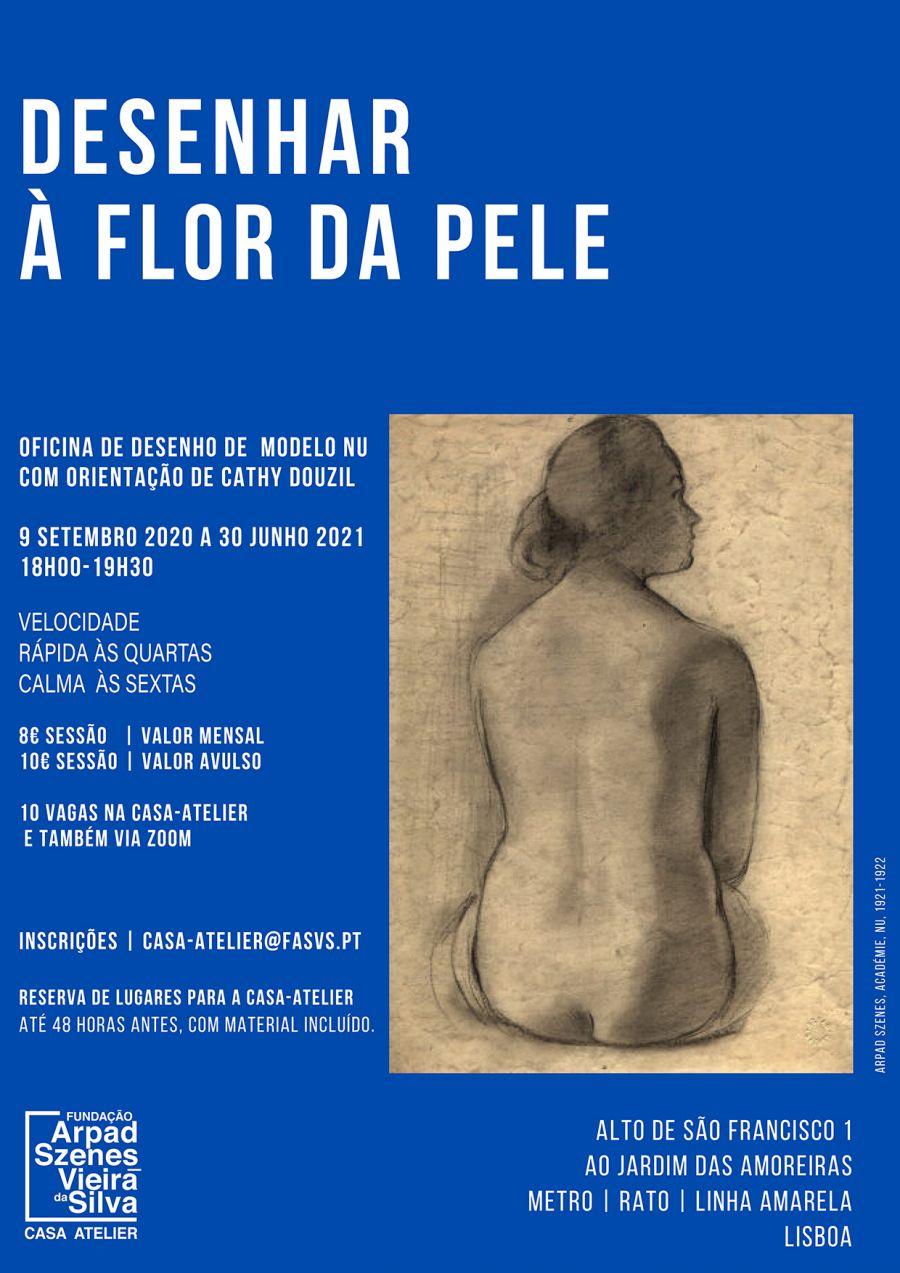 Desenhar à Flor da Pele, desenho de modelo nu na Casa-Atelier Vieira da Silva ou Zoom