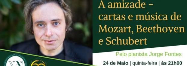 Recital de Piano Cartas e Música de Mozart, Beethoven e Schubert