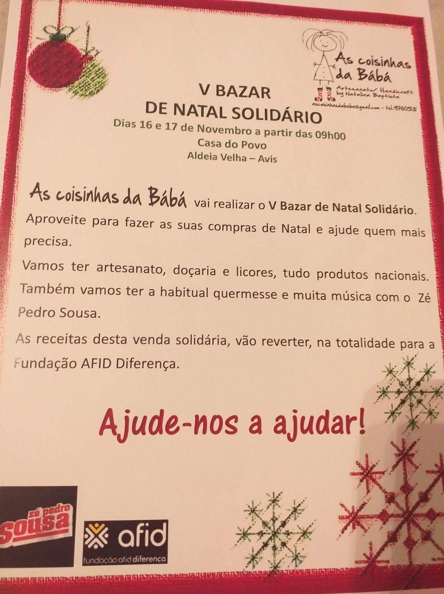 V Bazar Solidário