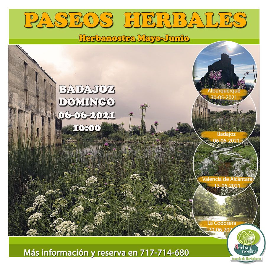 Paseo herbal en Badajoz