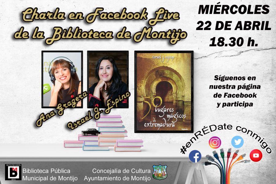 Charla con Ana Gragera e Israel J. Espino en Facebook Live