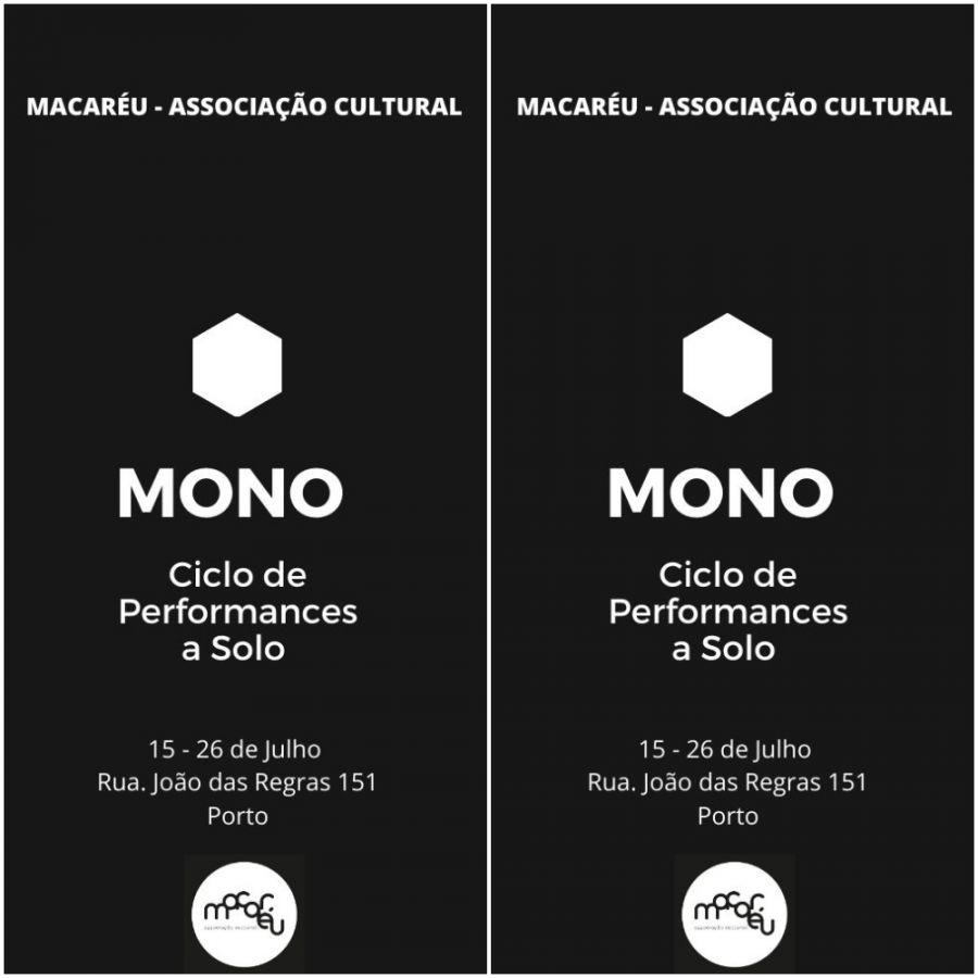 MONO - CICLO DE PERFORMANCES A SOLO