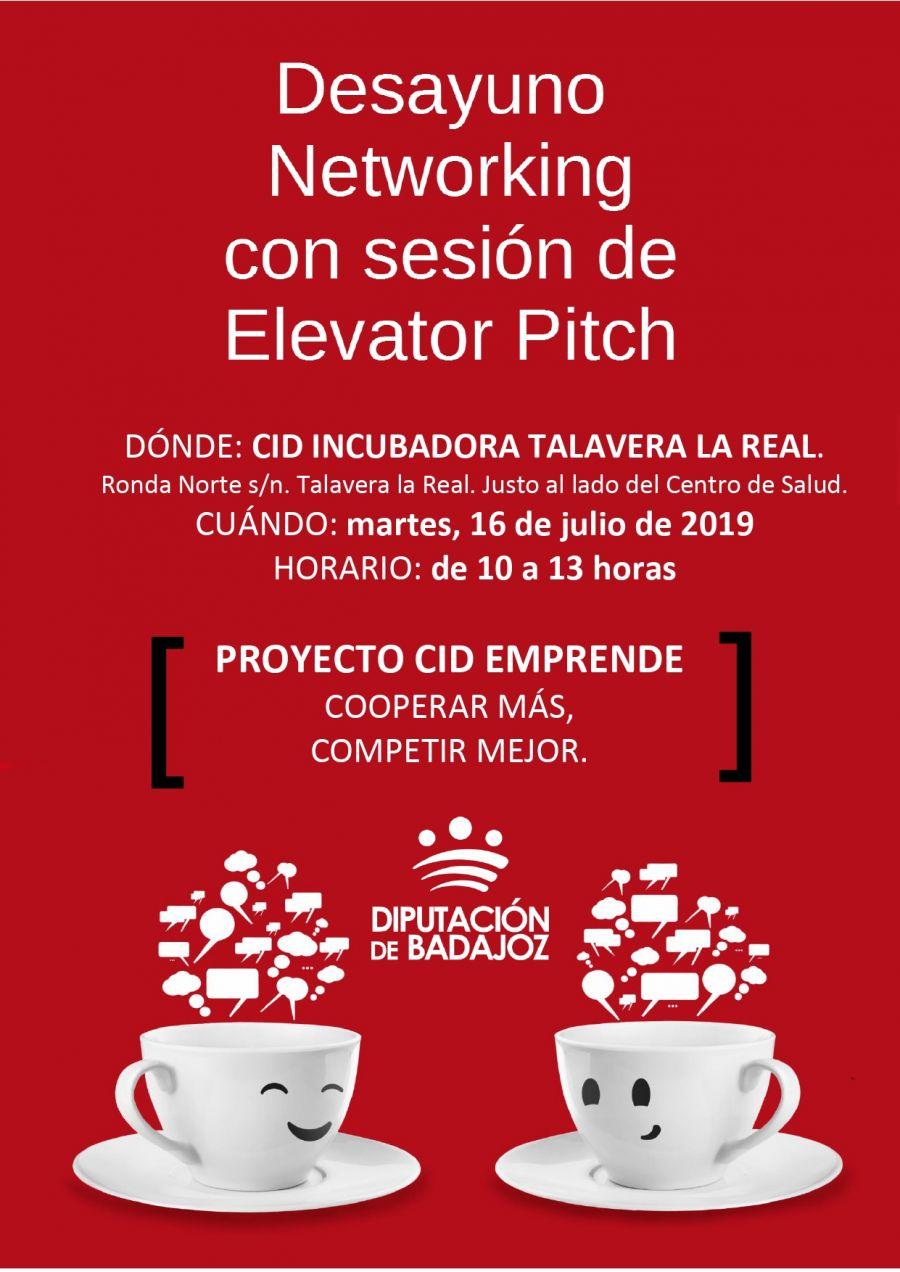 DESAYUNO NETWORKING CON SESIÓN DE ELEVATOR PITCH