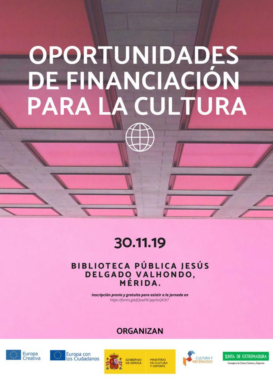Jornada sobre Oportunidades de Financiación para la Cultura