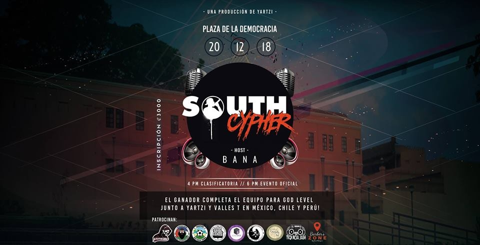South cypher, Costa Rica. Hip-hop, rap competición