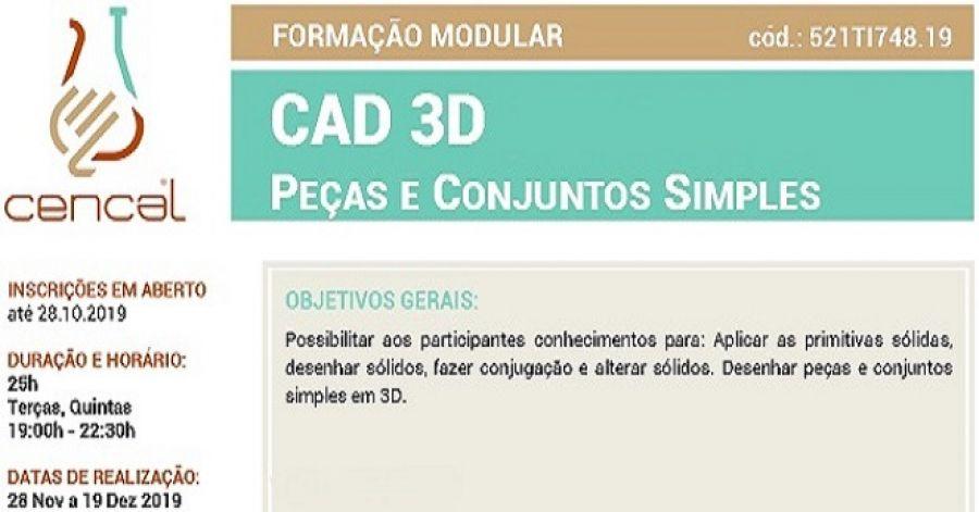 CAD 3D - Peças e Conjuntos Simples