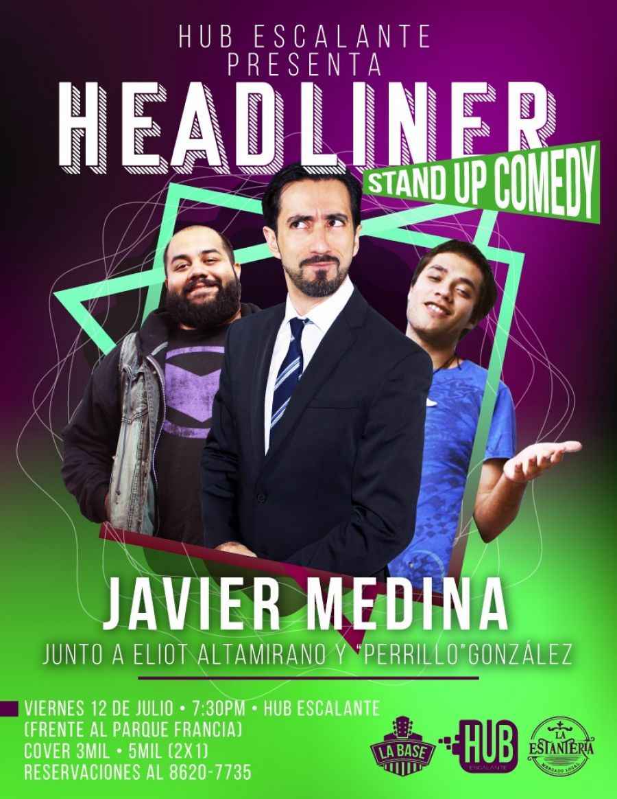 Headliners. Javier Medina. Stand-up comedy