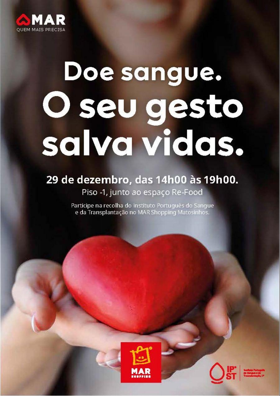 Em vésperas de um novo ano, MAR Shopping Matosinhos e Instituto do Sangue apelam a dádivas