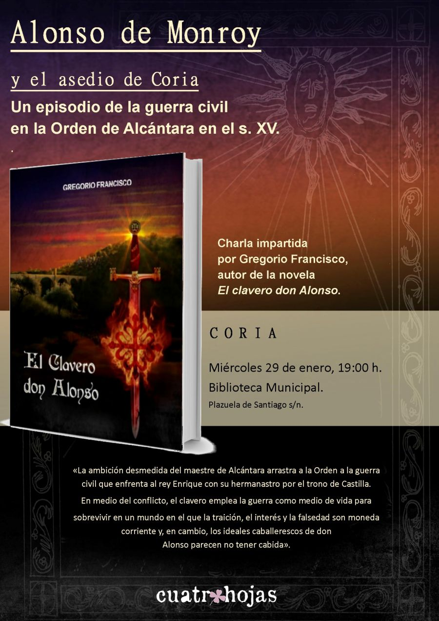 Presentación novela El clavero don Alonso