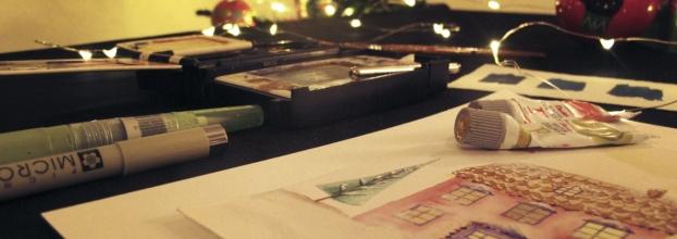 Workshop de Ilustração: Postais de Natal