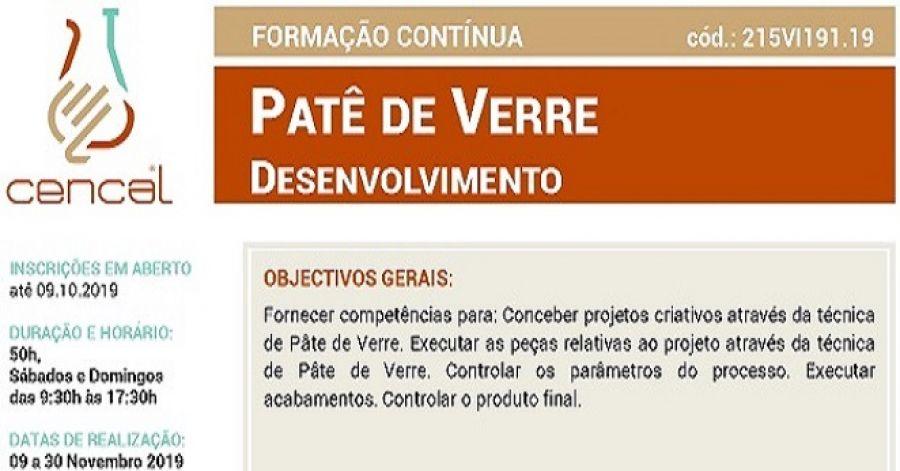 PATÊ DE VERRE - Desenvolvimento