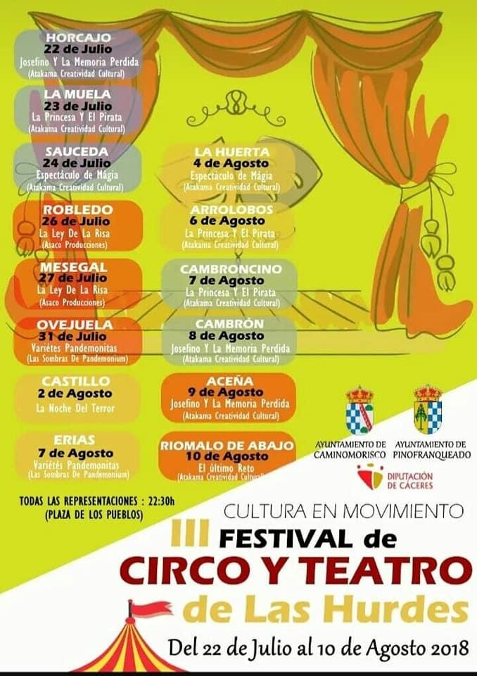 III Festival de Circo y Teatro de las Hurdes