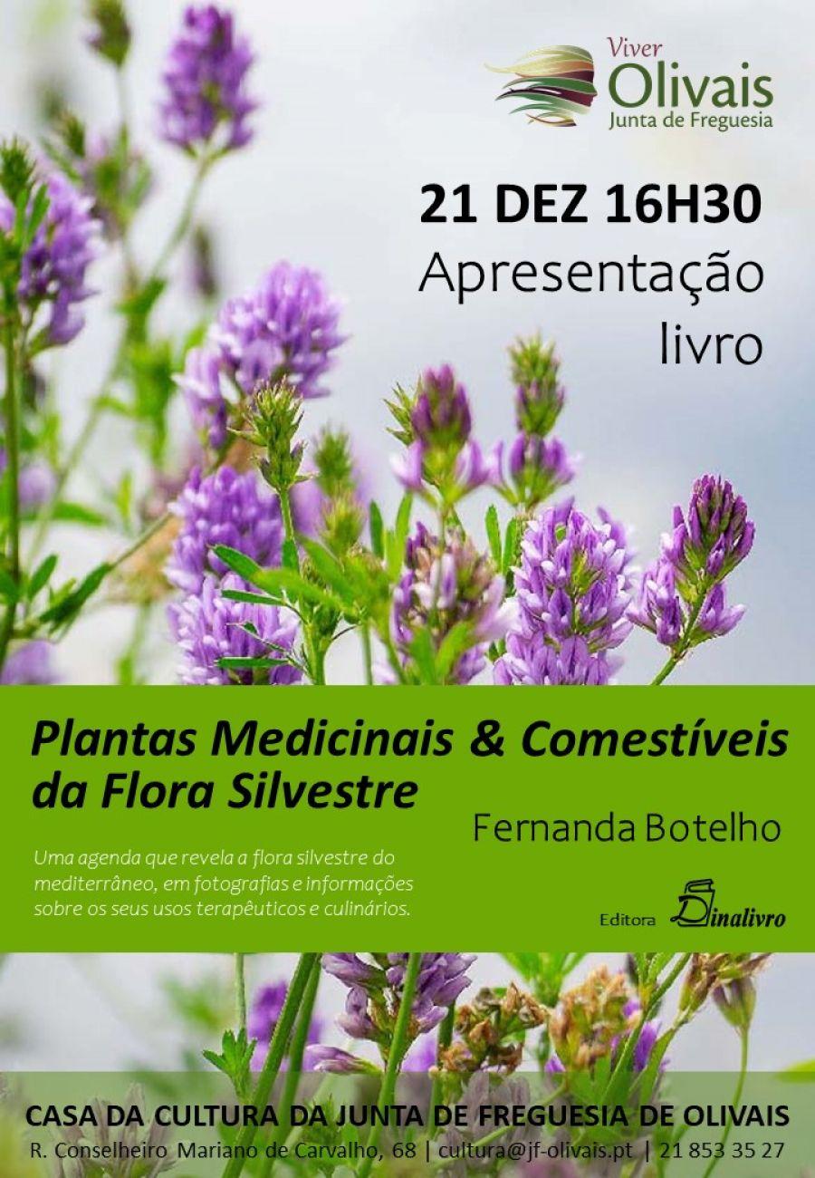 Apresentação livro 'Plantas Medicinais & Comestíveis da Flora Silvestre' de Fernanda Botelho