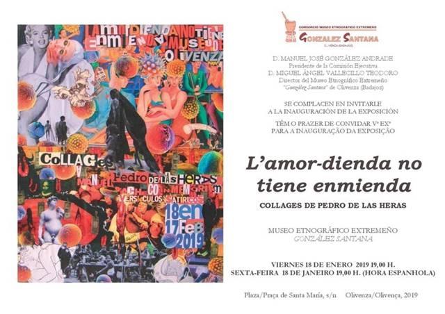 Exposición 'L'amor-dienda no tiene enmienda', collage de Pedro de Las Heras