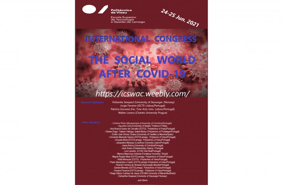 Congresso Internacional 'The Social World after Covid-19'