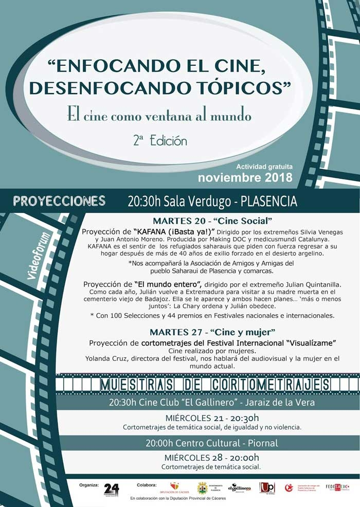 Proyecciones 2ª Edición 'Enfocando el cine, desenfocando tópicos. El cine como ventana al mundo'