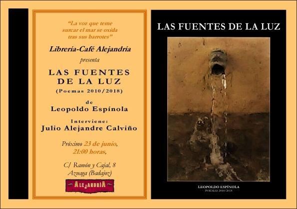 Presentación «Las fuentes de la luz» || Librería-Café Alejandría