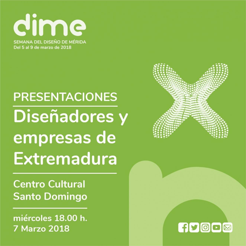Presentación: DISEÑADORES Y EMPRESAS DE DISEÑO DE EXTREMADURA