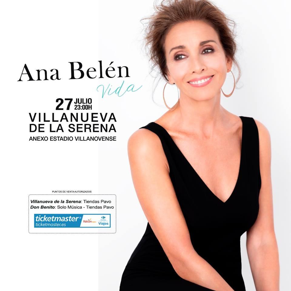 Concierto de Ana Belén en  Villanueva de la Serena