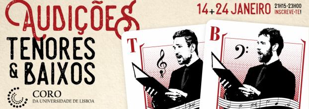 Audições para Tenores & Baixos do Coro da Universidade de Lisboa