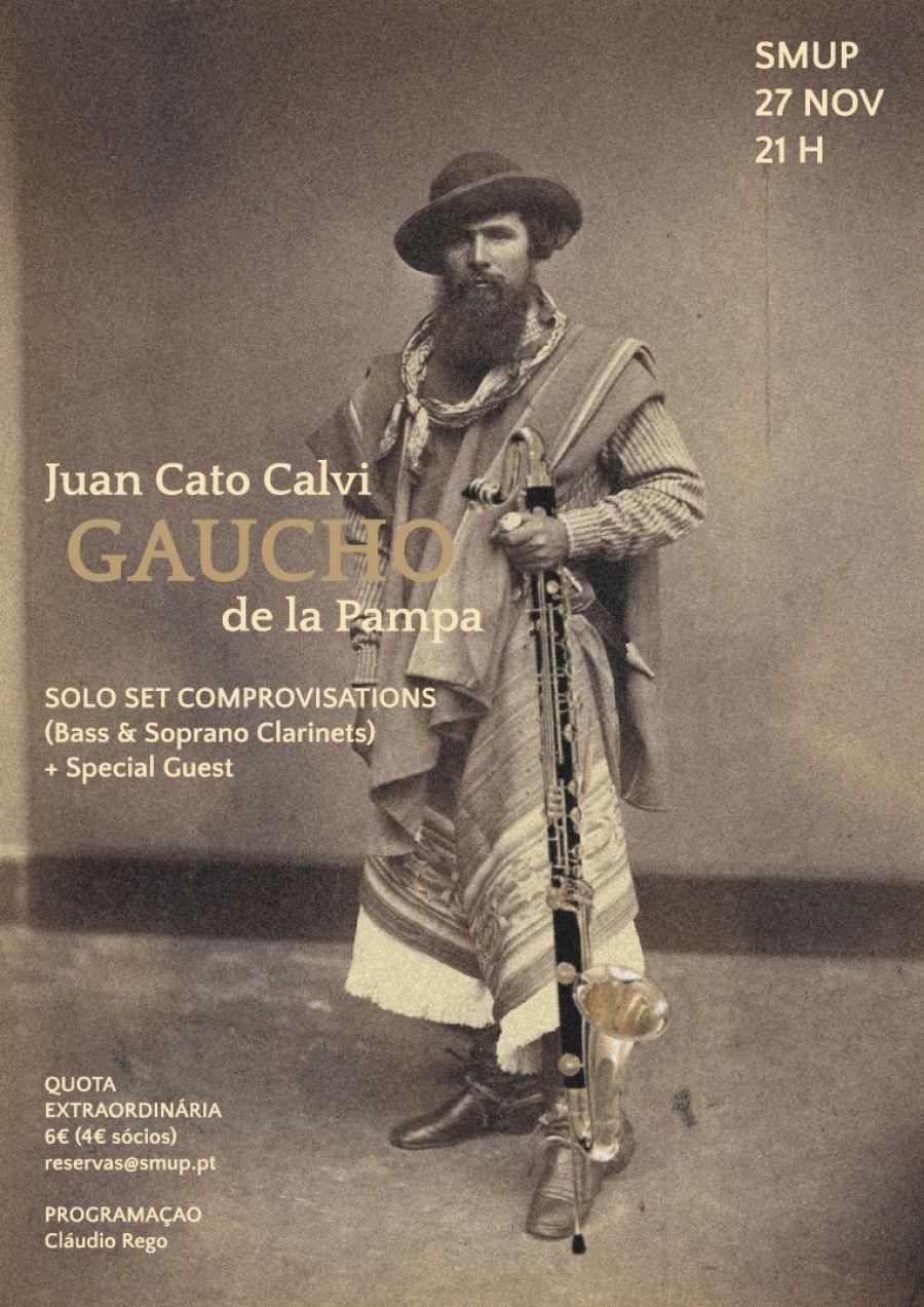 Juan Cato Calvi. 'Gaucho de la Pampa'. Original Comprovisations. Bass Clarinet Solo Set.