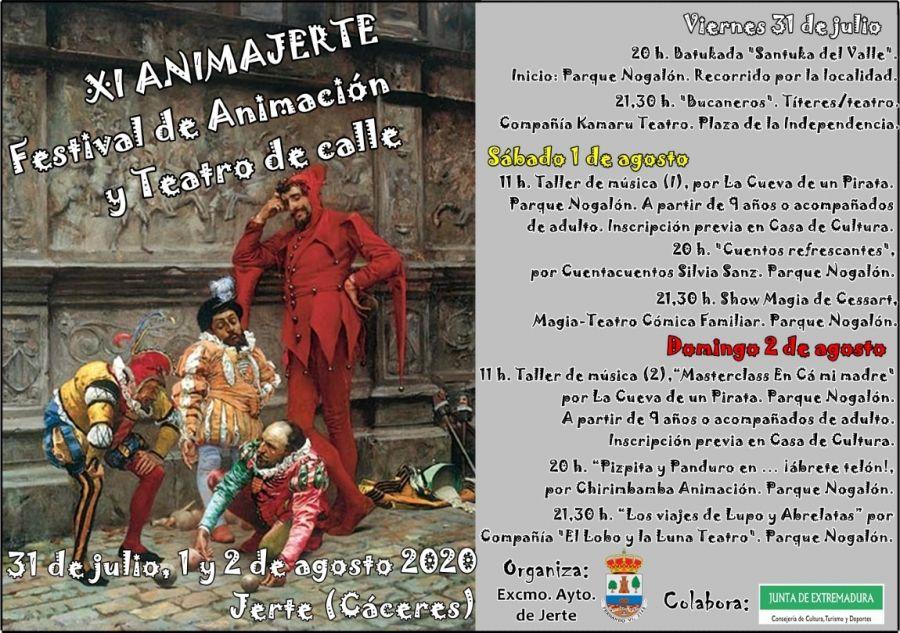 XI Animajerte2020. Festival de Animación y Teatro de Calle