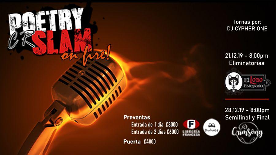 Poetry Slam Costa Rica 2019 - On Fire! - ELIMINATORIAS