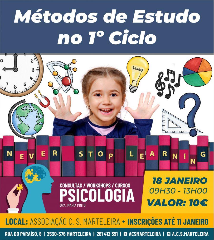 Métodos de Estudo - 1º Ciclo