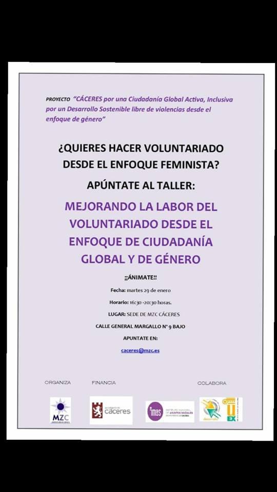 Taller de voluntariado feminista
