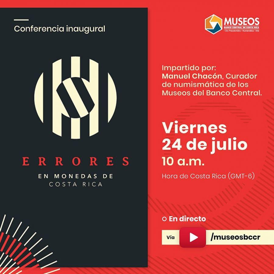 Conferencia inaugural. Errores en monedas de Costa Rica